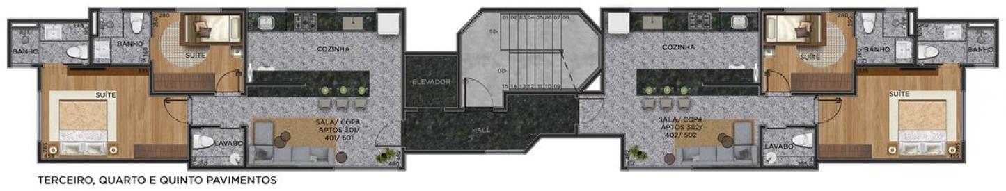 Apartamento   São Pedro (Belo Horizonte)   R$  432.330,27