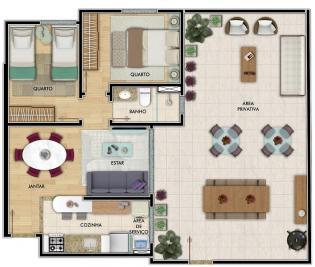 Área privativa   Alvorada (Contagem)   R$  270.000,00