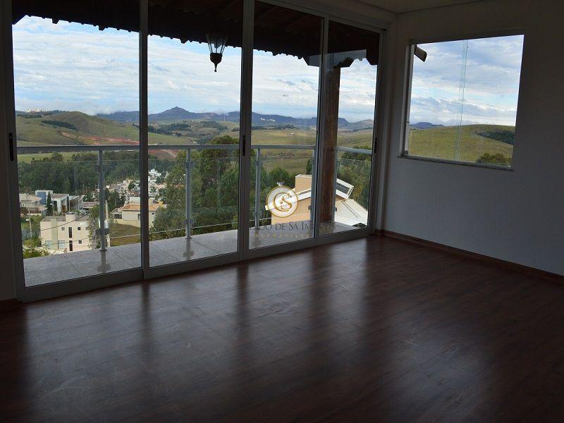 Sala segundo pavimento com vista para as montanhas - 3339