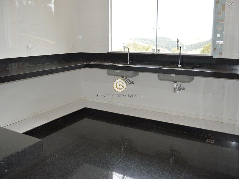 Cozinha com bancada e piso em granito - 3339